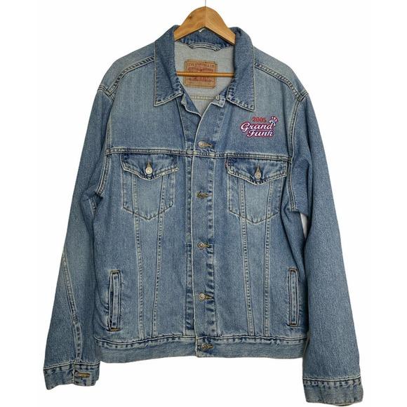Levis Denim Jeans Jacket XL GRAND FUNK RAIL ROAD